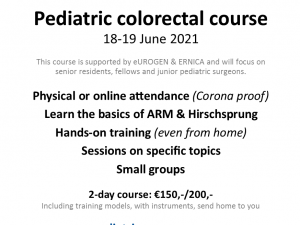 Paediatric Colorectal Course: 18-19 June 2021
